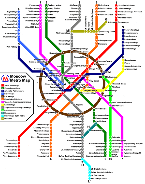 image of the Moscow metro map